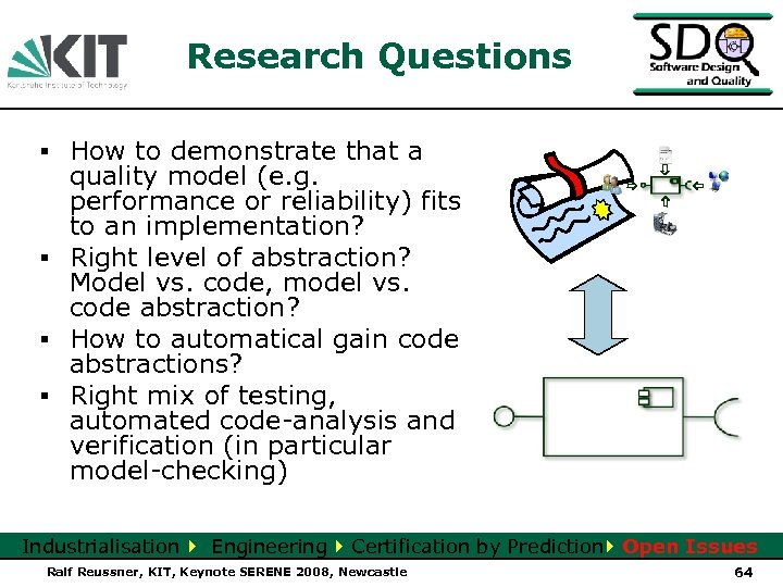 Research Questions ▪ How to demonstrate that a quality model (e. g. performance or