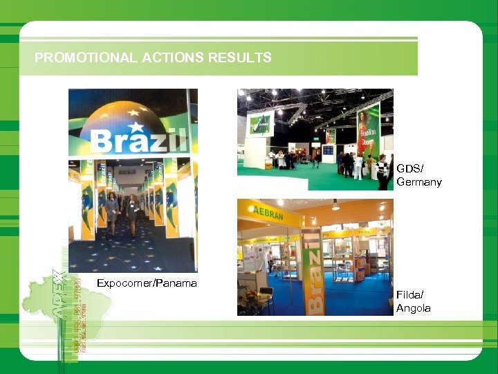 PROMOTIONAL ACTIONS RESULTS GDS/ Germany Expocomer/Panama Filda/ Angola