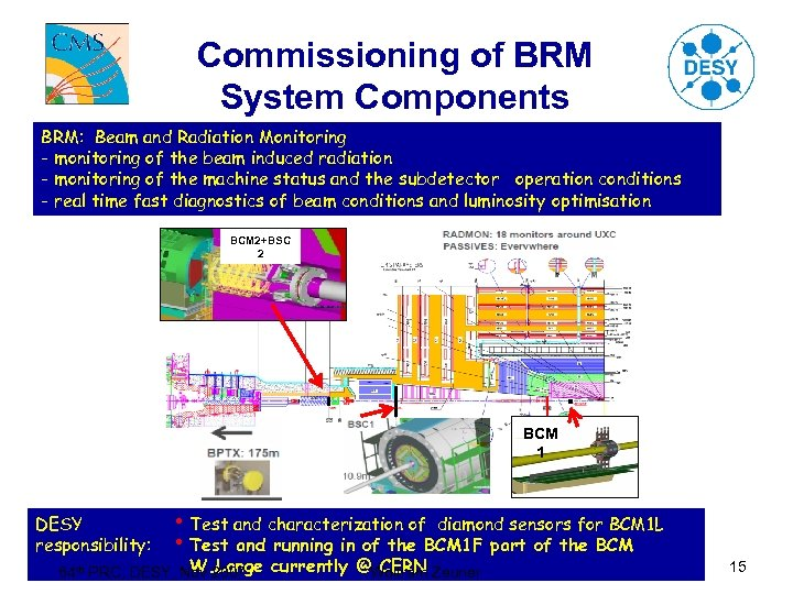 Commissioning of BRM System Components BRM: Beam and Radiation Monitoring - monitoring of the