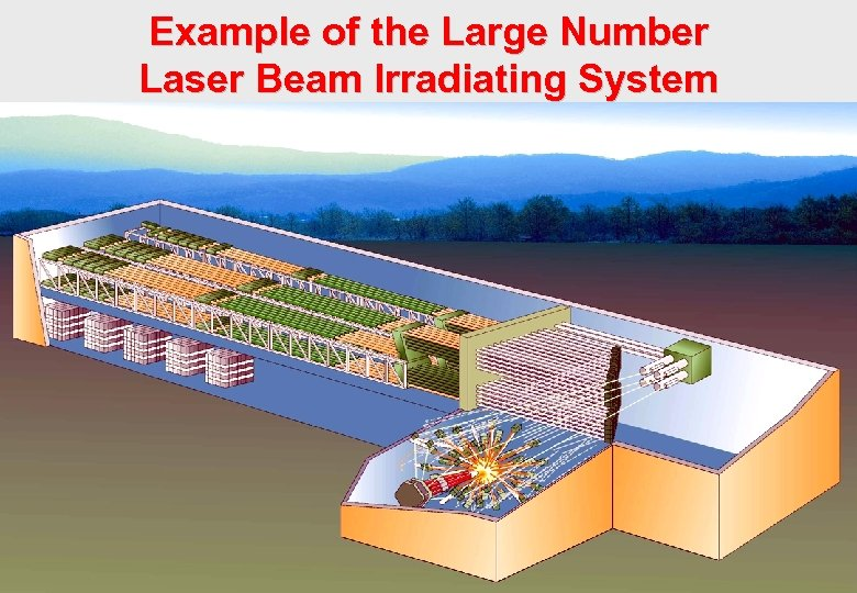 Example of the Large Number Laser Beam Irradiating System