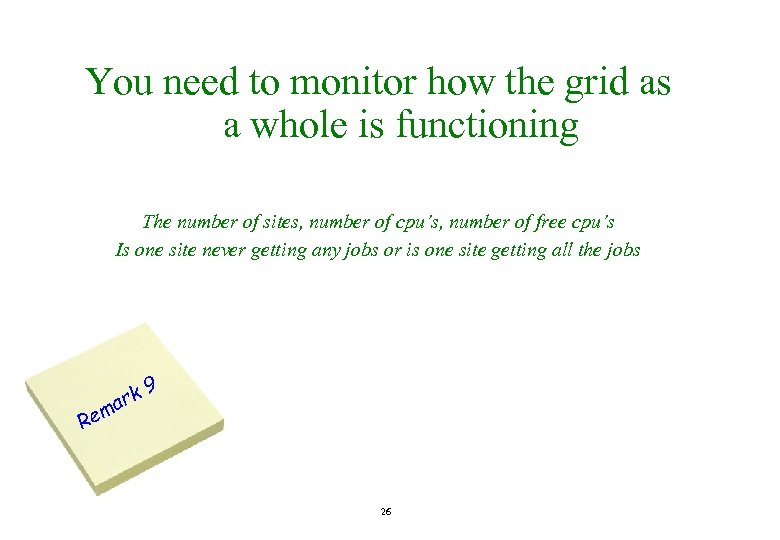 You need to monitor how the grid as a whole is functioning The number