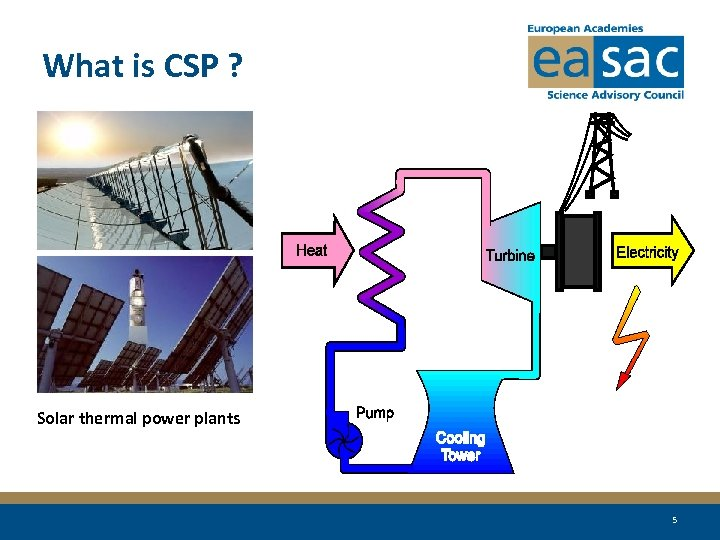 What is CSP ? Solar thermal power plants 5