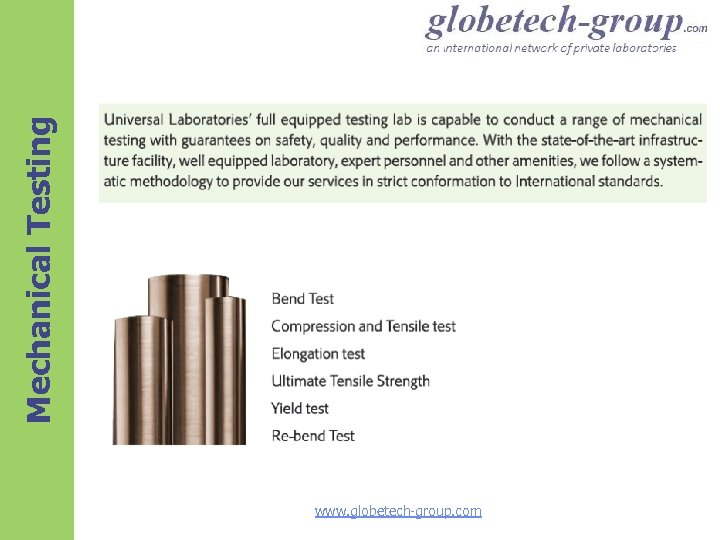 Mechanical Testing www. globetech-group. com