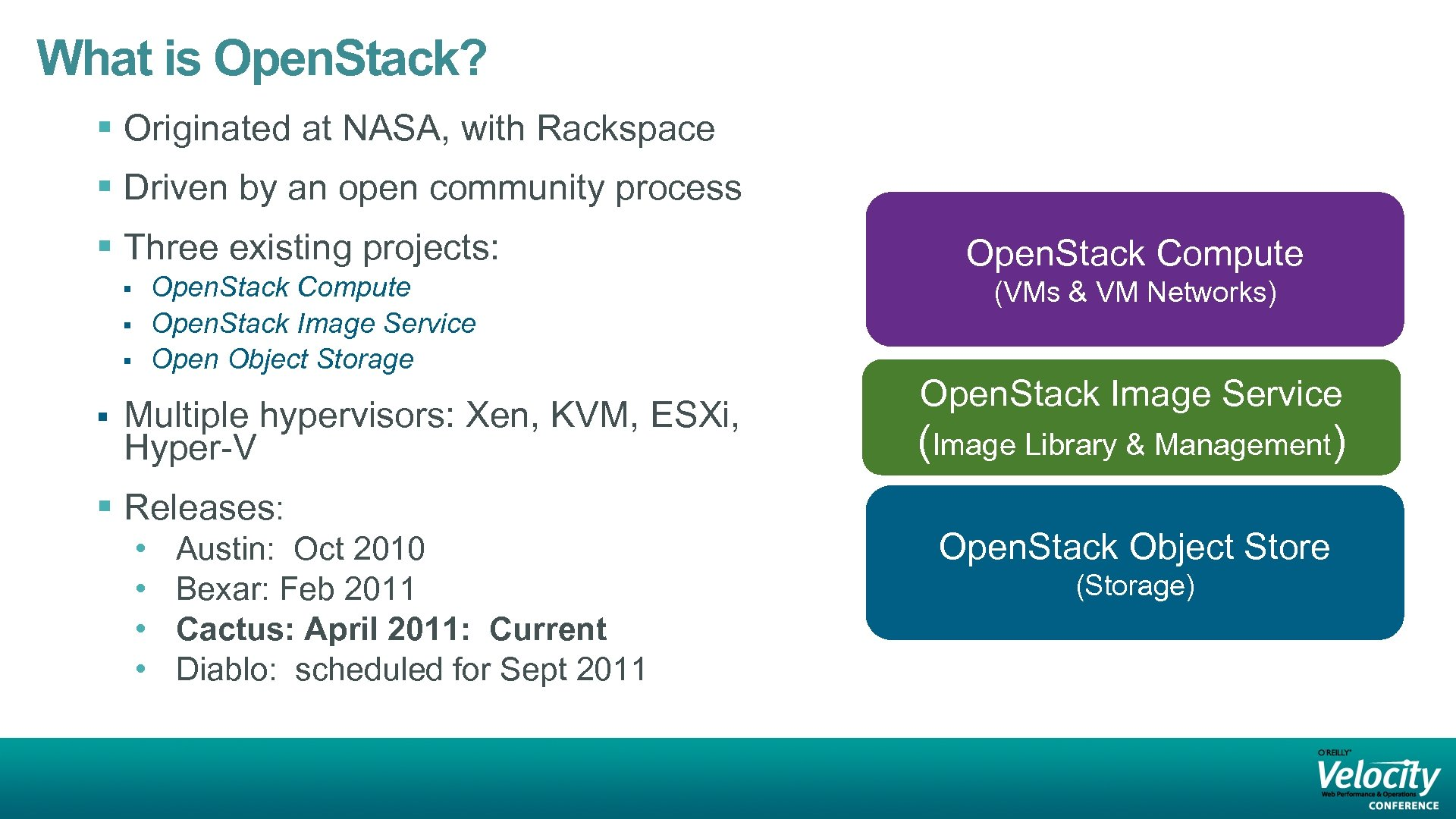 What is Open. Stack? § Originated at NASA, with Rackspace § Driven by an