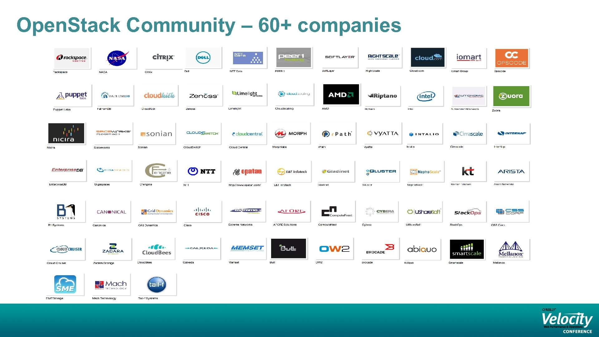 Open. Stack Community – 60+ companies