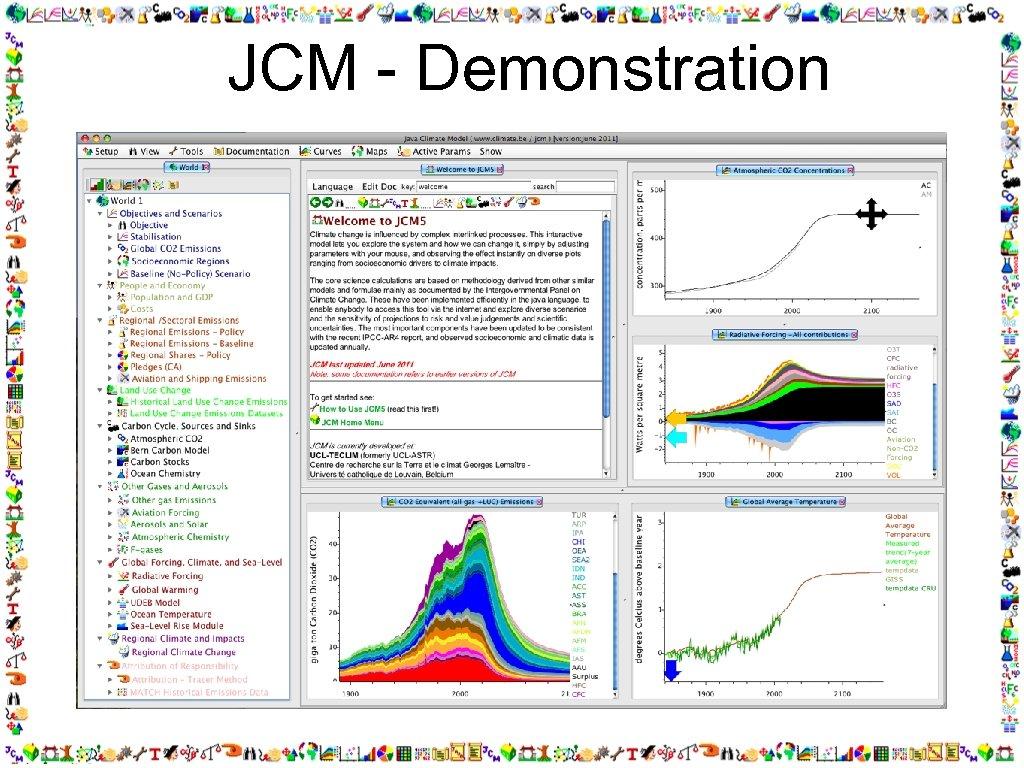 JCM - Demonstration matthews@climate. be, model: www. climate. be/jcm,