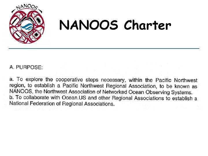 NANOOS Charter
