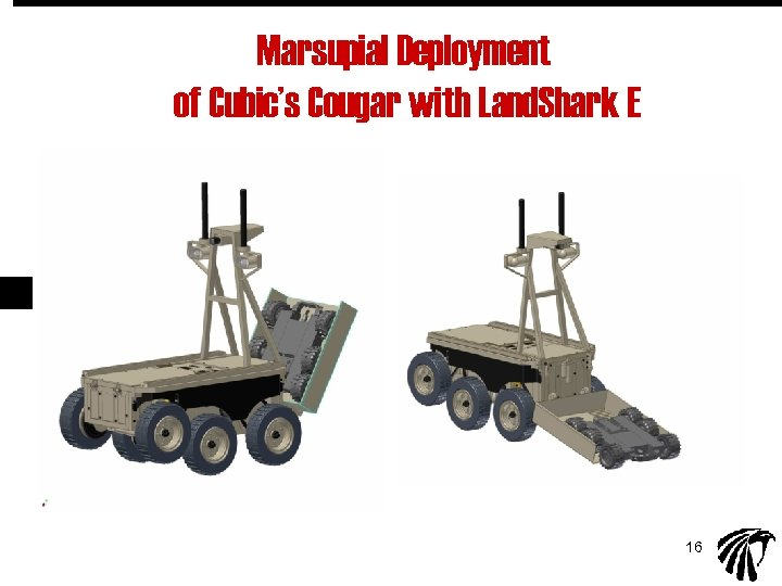 Marsupial Deployment of Cubic's Cougar with Land. Shark E 16
