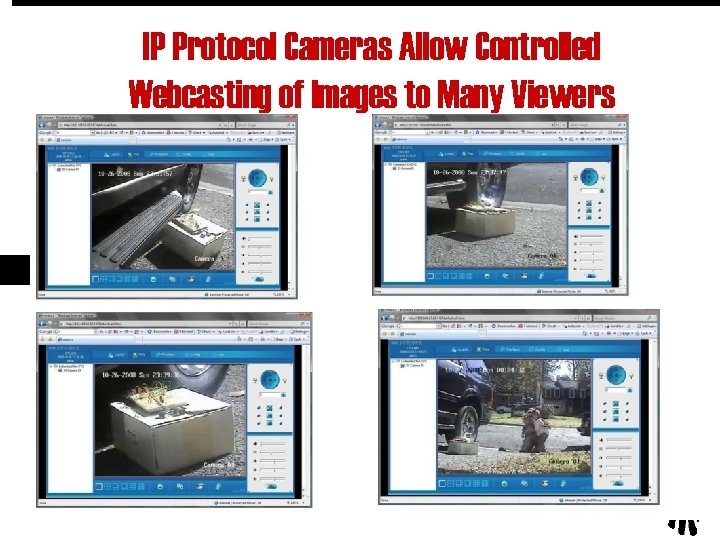 IP Protocol Cameras Allow Controlled Webcasting of Images to Many Viewers 23
