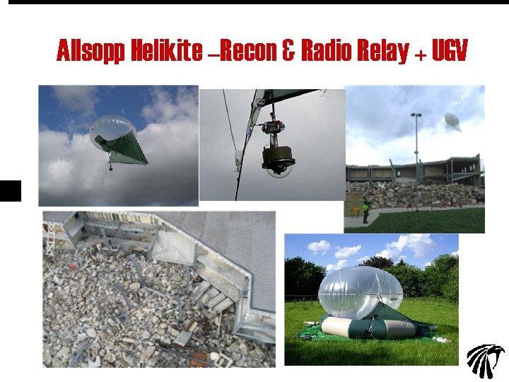 Allsopp Helikite –Recon & Radio Relay + UGV 26