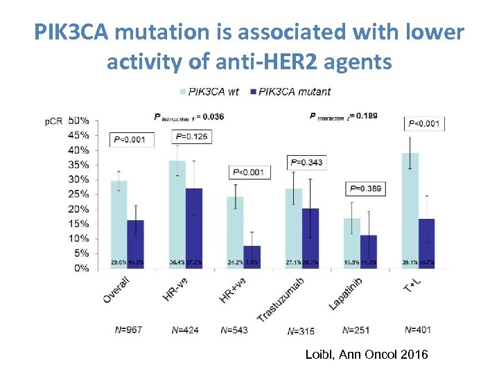 PIK 3 CA mutation is associated with lower activity of anti-HER 2 agents Loibl,