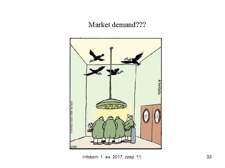Market demand? ? ? Infokom. 1. ea. 2017. szep. 11. 33