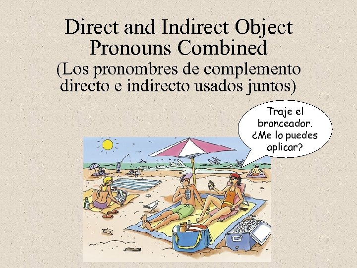 Direct and Indirect Object Pronouns Combined (Los pronombres de complemento directo e indirecto usados