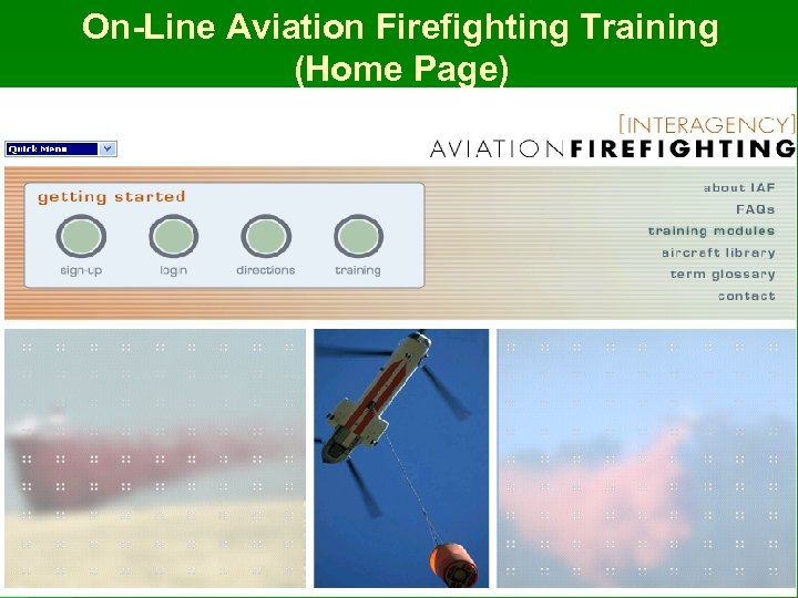 On-Line Aviation Firefighting Training (Home Page)