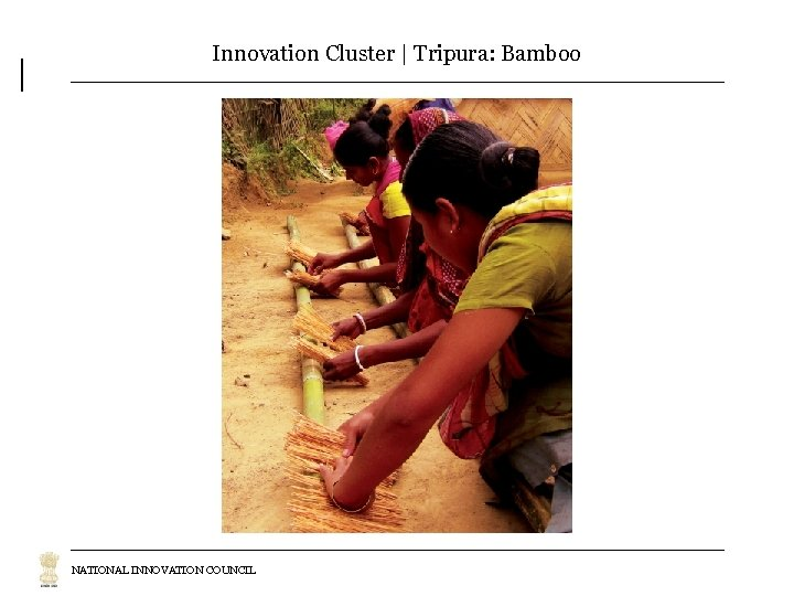 Innovation Cluster | Tripura: Bamboo NATIONAL INNOVATION COUNCIL