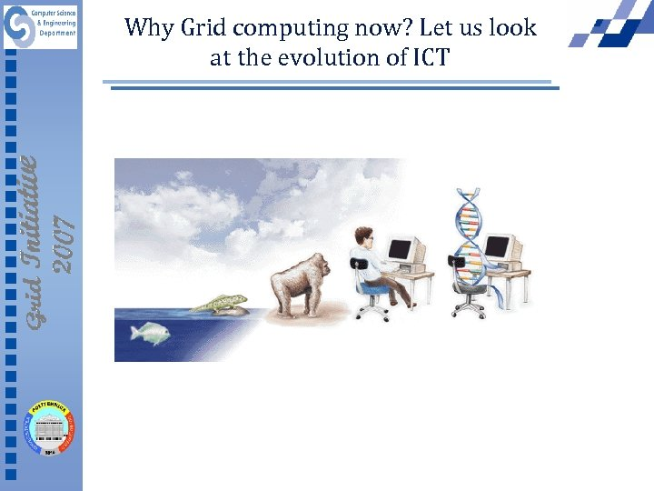 Why Grid computing now? Let us look at the evolution of ICT