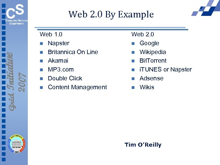 Web 2. 0 By Example Web 1. 0 n Napster n Britannica On Line