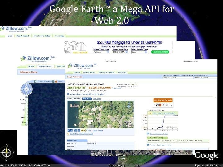 Google Earth™ a Mega API for Web 2. 0