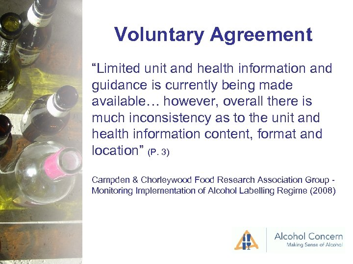 """Voluntary Agreement """"Limited unit and health information and guidance is currently being made available…"""
