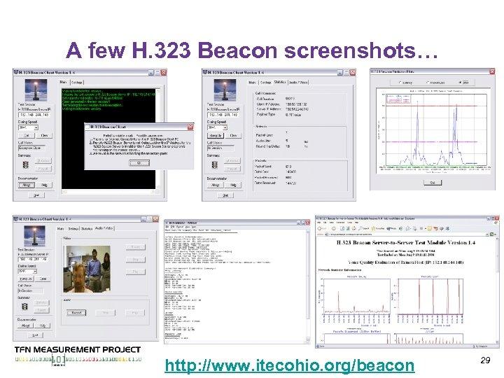 A few H. 323 Beacon screenshots… http: //www. itecohio. org/beacon 29