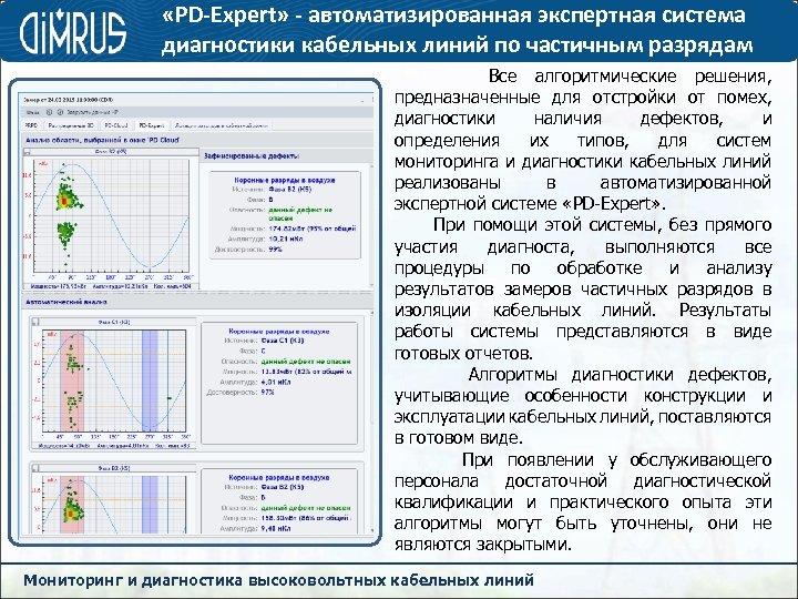 «PD-Expert» - автоматизированная экспертная система диагностики кабельных линий по частичным разрядам Все алгоритмические