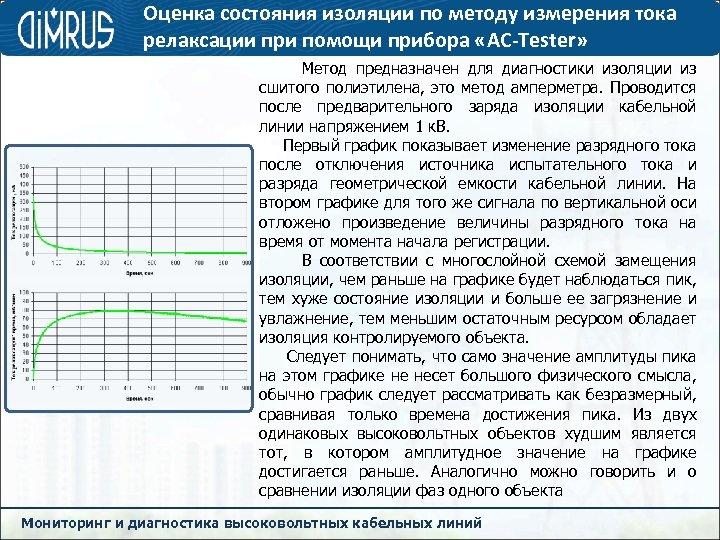 Оценка состояния изоляции по методу измерения тока релаксации при помощи прибора «AC-Tester» Метод предназначен