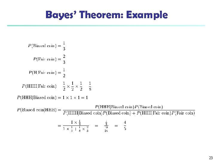 Bayes' Theorem: Example 23