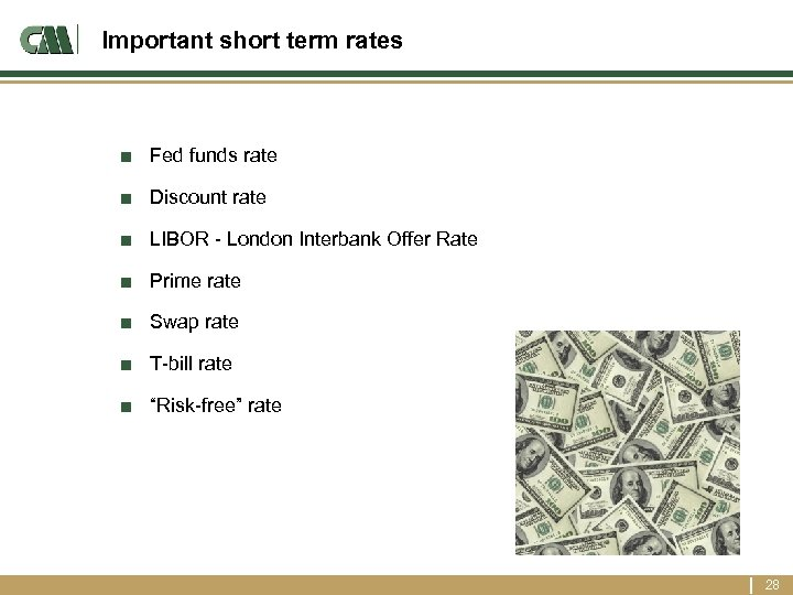 Important short term rates ■ Fed funds rate ■ Discount rate ■ LIBOR -