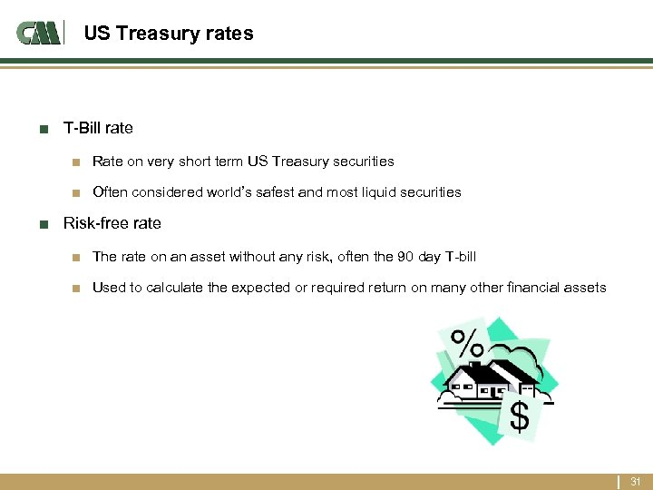 US Treasury rates ■ T-Bill rate ■ Rate on very short term US Treasury