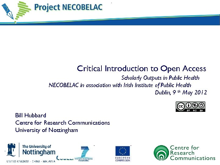 Critical Introduction to Open Access Scholarly Outputs in Public Health NECOBELAC in association with
