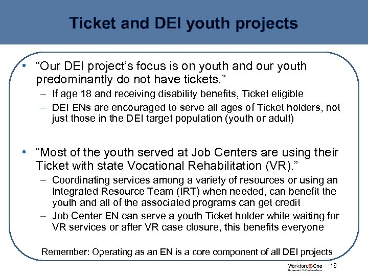 """Ticket and DEI youth projects • """"Our DEI project's focus is on youth and"""