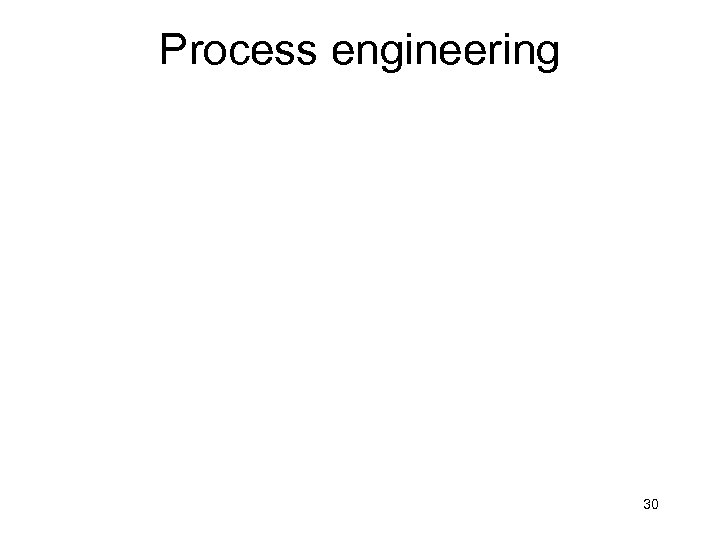 Process engineering 30