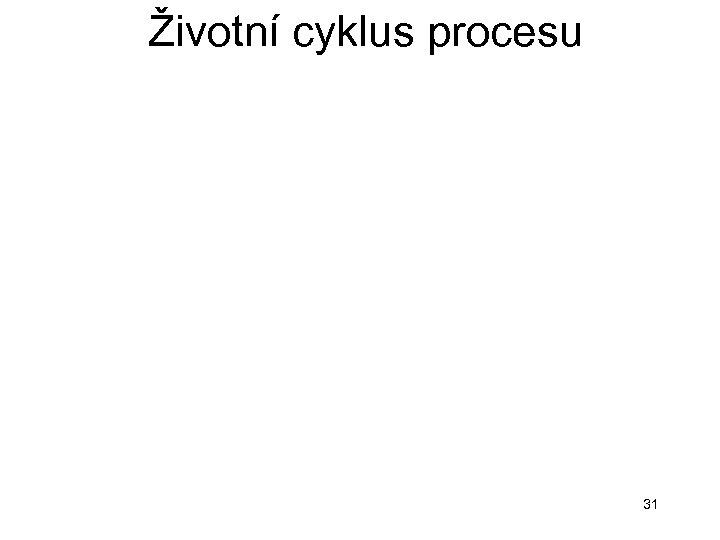 Životní cyklus procesu 31