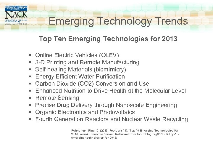 www. nano 4 me. org Click to edit Master title style Emerging Technology Trends
