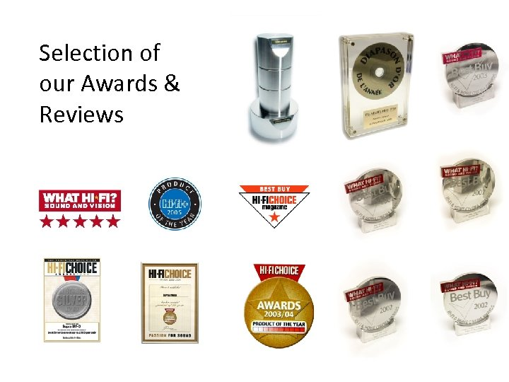 Selection of our Awards & Reviews