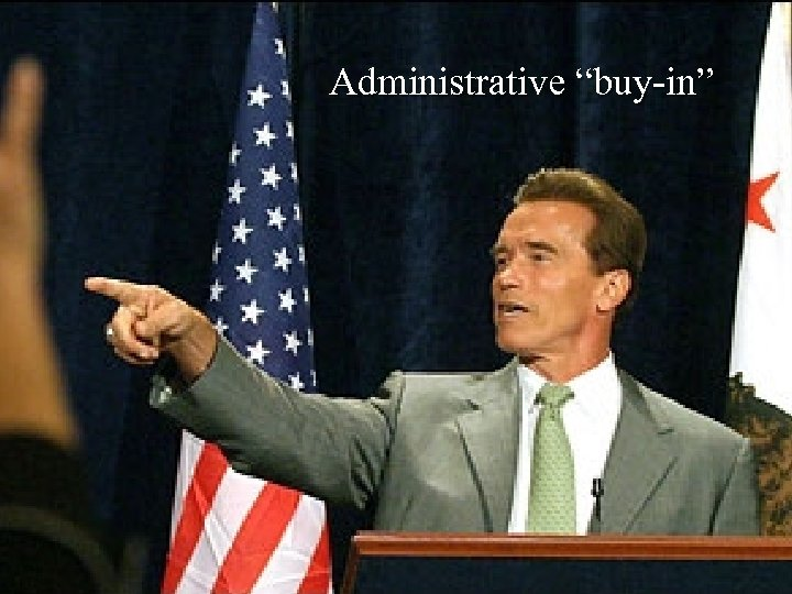 "Administrative ""buy-in"""
