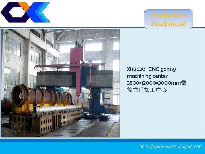 Production Equipment XK 2620 CNC gantry machining center 3500× 12000× 3000 mm数 控龙门加 中心