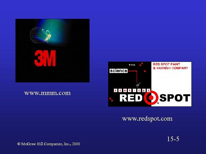 www. mmm. com www. redspot. com © Mc. Graw Hill Companies, Inc. , 2000
