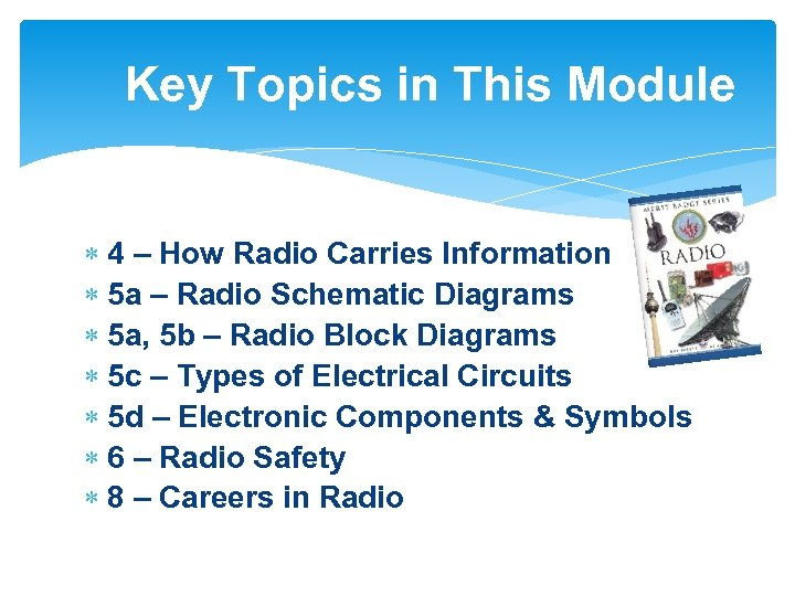 Key Topics in This Module 4 – How Radio Carries Information 5 a –