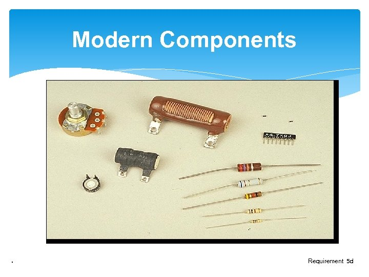 Modern Components . Requirement 5 d