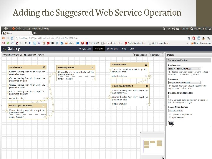Adding the Suggested Web Service Operation