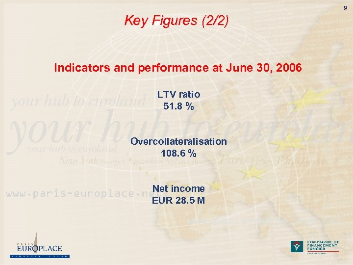 9 Key Figures (2/2) Indicators and performance at June 30, 2006 LTV ratio 51.