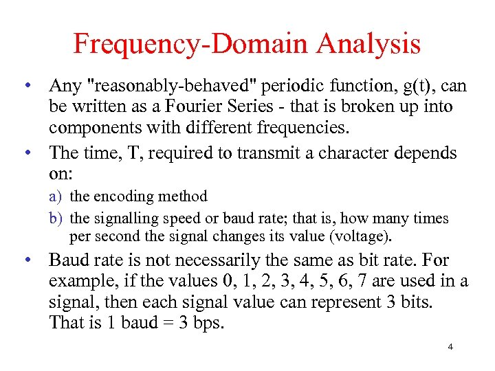 Frequency-Domain Analysis • Any