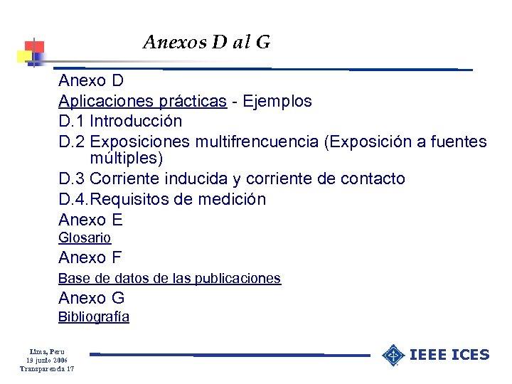 Anexos D al G Anexo D Aplicaciones prácticas - Ejemplos D. 1 Introducción D.