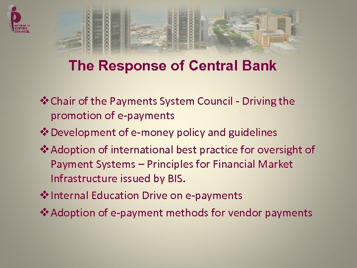 The Response of Central Bank v. Chair of the Payments System Council - Driving
