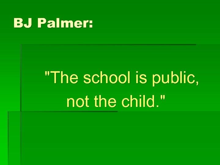 BJ Palmer:
