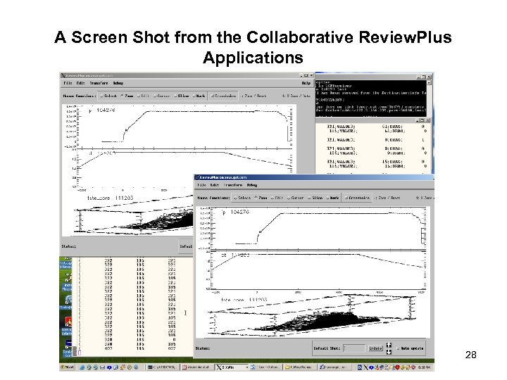 A Screen Shot from the Collaborative Review. Plus Applications 28