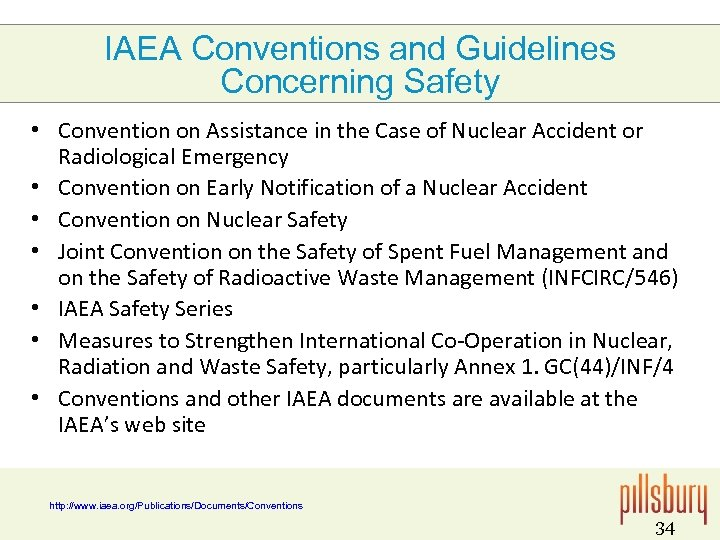 IAEA Conventions and Guidelines Concerning Safety • Convention on Assistance in the Case of