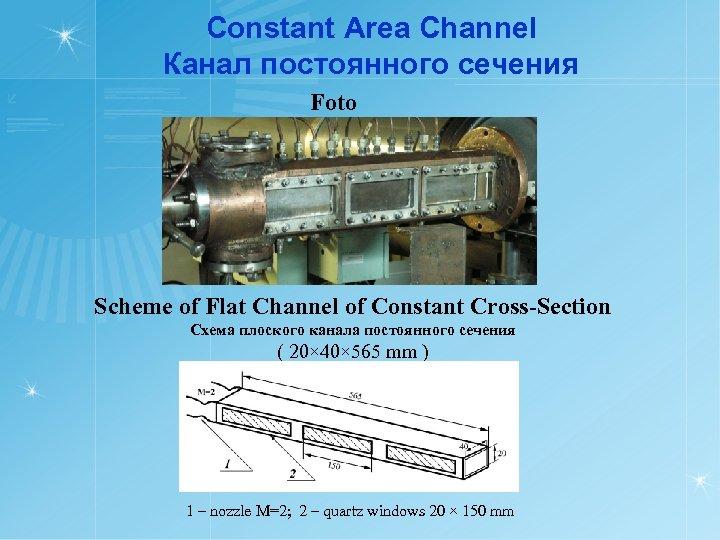Constant Area Channel Канал постоянного сечения Foto Scheme of Flat Channel of Constant Cross-Section
