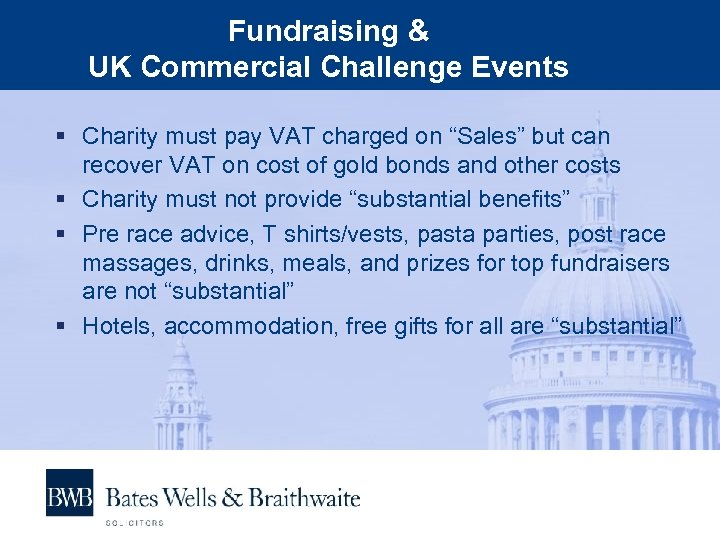 """Fundraising & UK Commercial Challenge Events § Charity must pay VAT charged on """"Sales"""""""